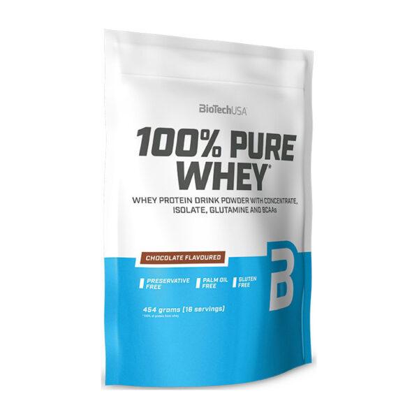 Купить100% Pure Whey (454 гр) от BioTech USA.