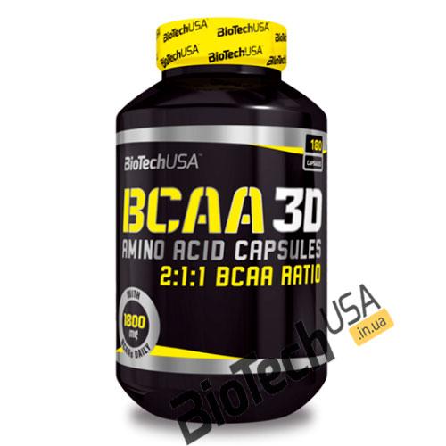 Купить BCAA 3D (180 капсул) от BioTech USA.