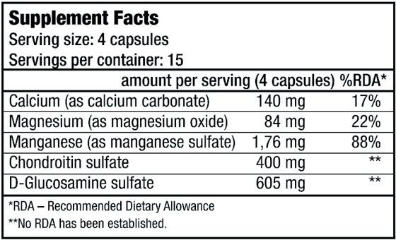 КупитьChondroitin Glucosamine (60 капсул) от BioTech USA.