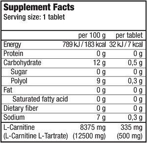 КупитьEffervescent L-Carnitine 500 mg (20 таблеток) отBioTech USA