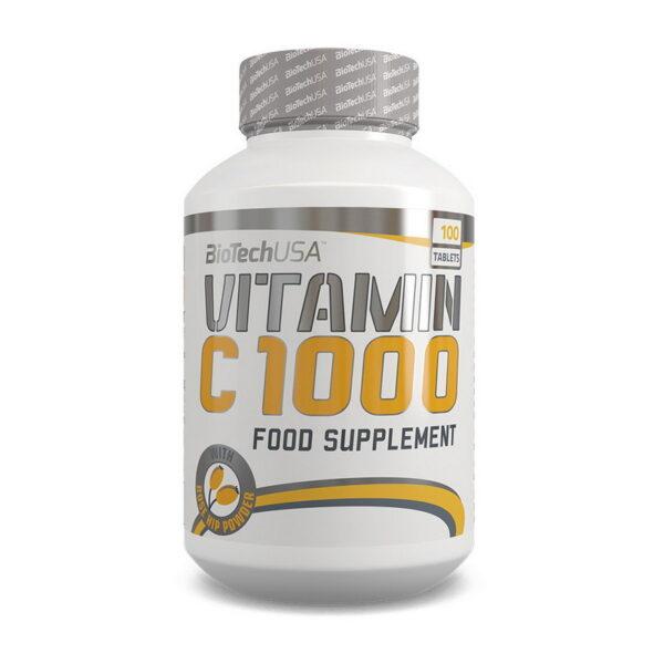 КупитьVitamin C 1000 с шиповником (100 таблеток) от Biotech USA.