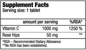 Купить Vitamin C 1000 с шиповником (100 таблеток) от Biotech USA.