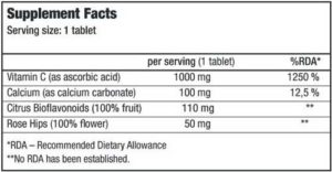 Купить Vitamin C 1000 Bio (100 таблеток) от Biotech USA.