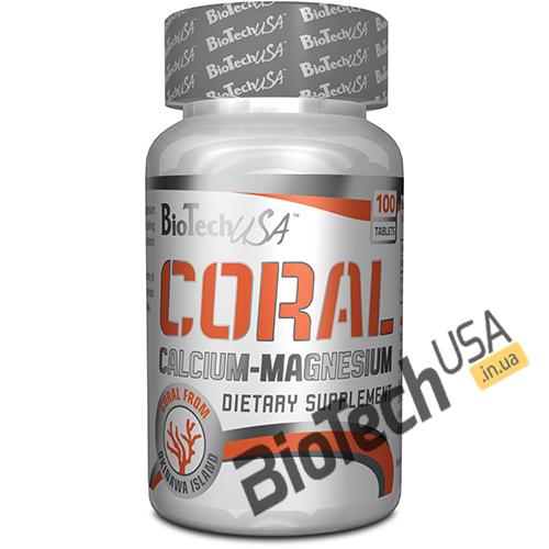 Купить Coral Calcium - Magnesium (100 таблеток) от Biotech USA.