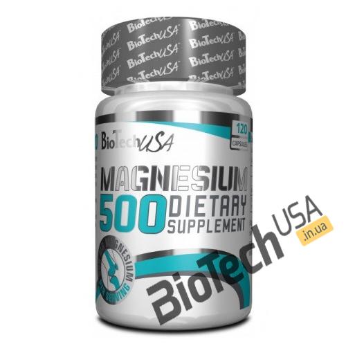 Купить Magnesium 500 (120 капсул) от Biotech USA.