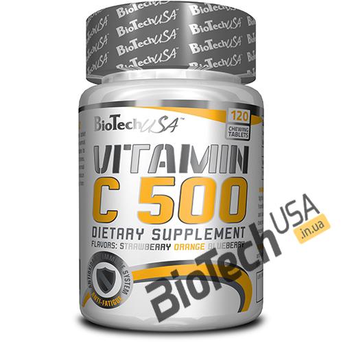 Купить Vitamin C 500 (120 капсул) от Biotech USA