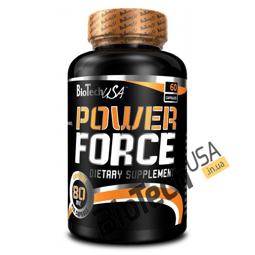 Купить энергетик Power Force (60 капсул) от Biotech USA