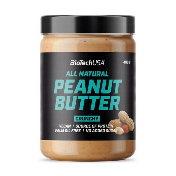Купить заменитель питания All Natural Peanut Butter (400 гр) от BiotechUSA