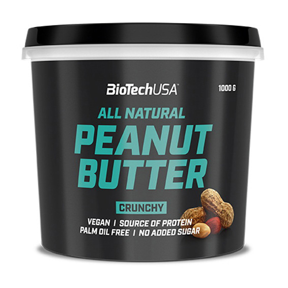 Купить заменитель питания All Natural Peanut Butter (1 кг) от BiotechUSA